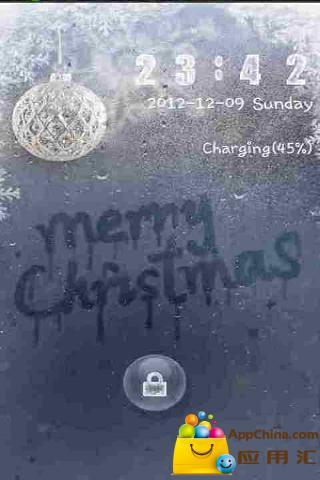 GO锁屏主题圣诞快乐