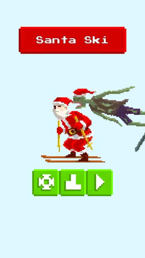 圣诞老人和僵尸的滑雪大战截图0