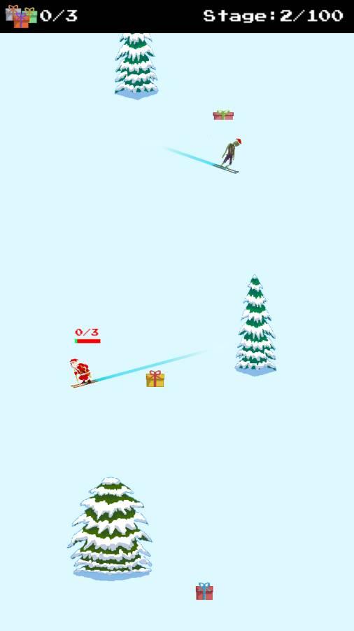 圣诞老人和僵尸的滑雪大战截图1