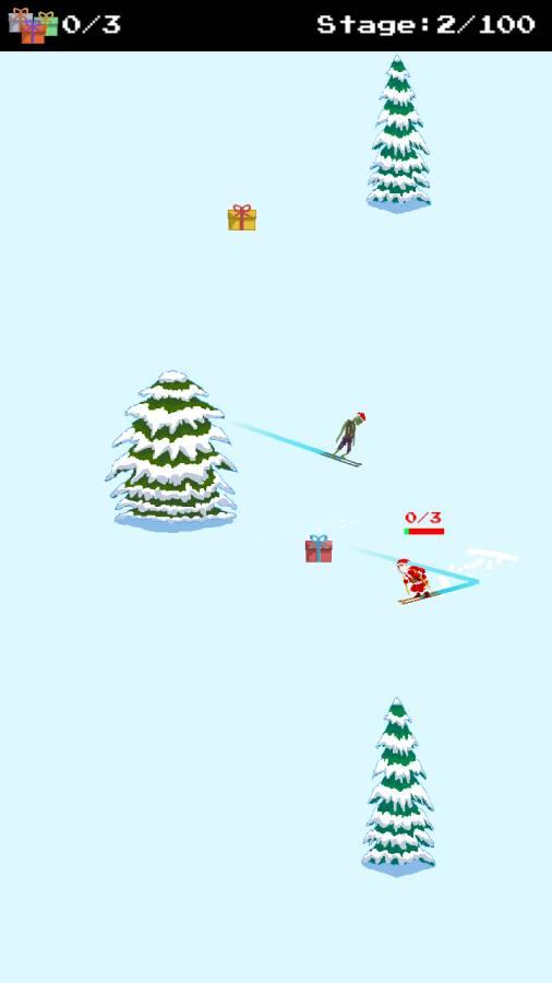 圣诞老人和僵尸的滑雪大战截图2