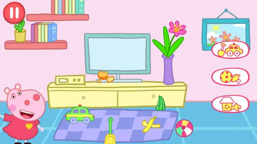 小猪佩奇整理房间