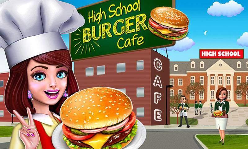 高中女生的咖啡馆:汉堡烹饪比赛