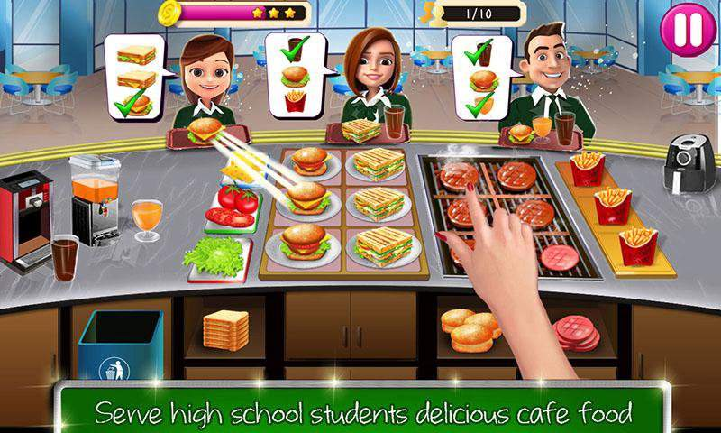高中女生的咖啡馆:汉堡烹饪比赛截图1