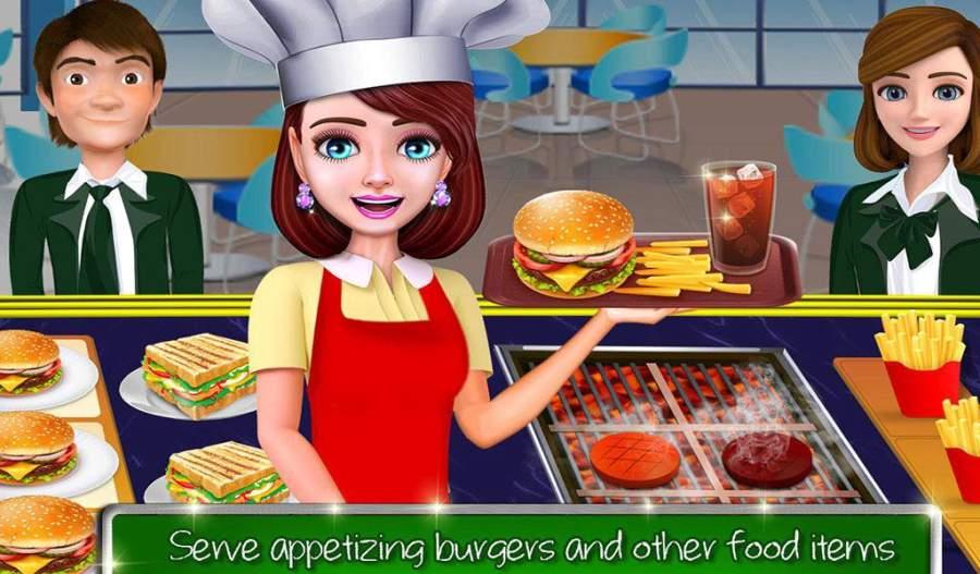 高中女生的咖啡馆:汉堡烹饪比赛截图3