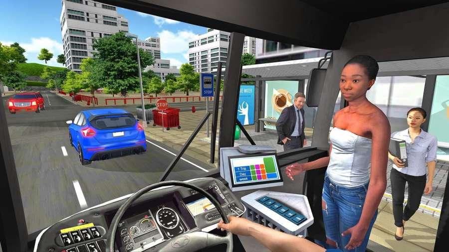 巴士模拟器2018年:城市驾驶截图0