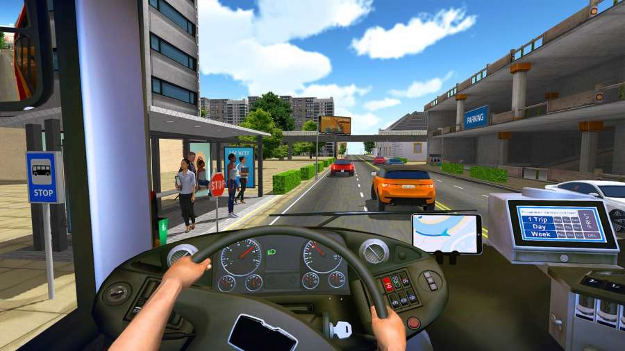 巴士模拟器2018年:城市驾驶截图3