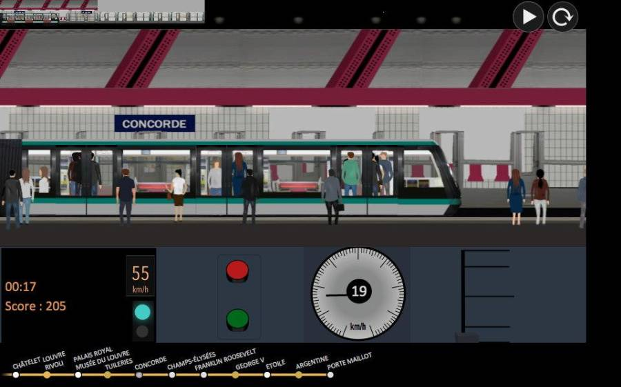 巴黎地铁 模拟器截图4