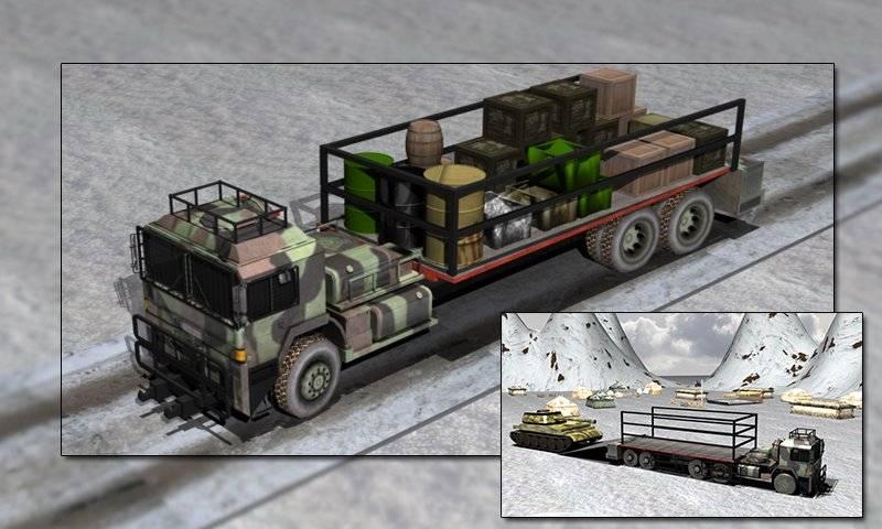 陆军货物卡车运输3D