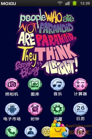 彩色涂鸦桌面主题—魔秀 工具 App-愛順發玩APP