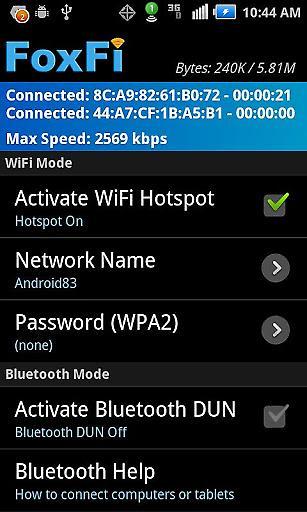 WiFi蓝牙网络共享截图1