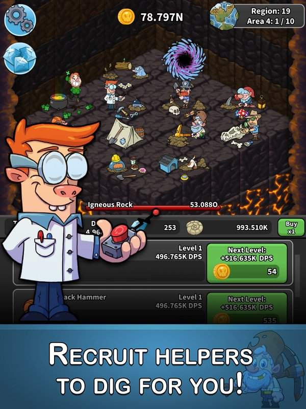 Tap Tap Dig - Idle Clicker Game截图1