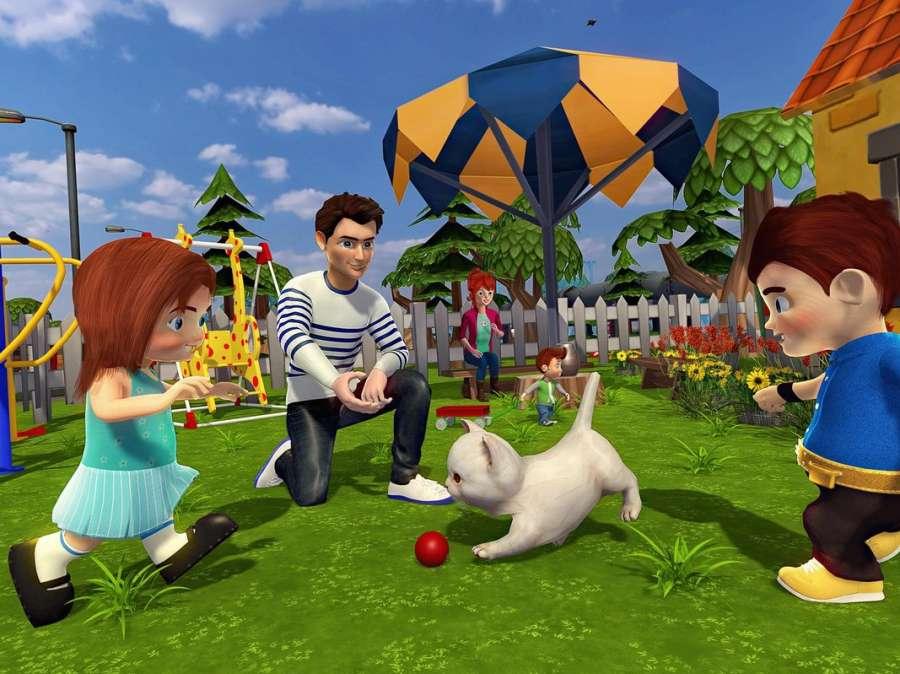 虚拟世界爸爸:幸福的家庭模拟器截图0