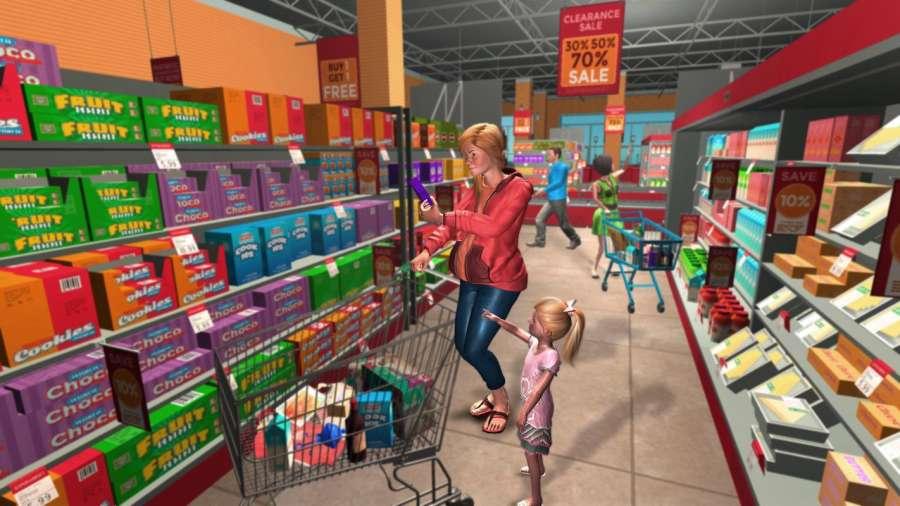 虚拟家庭怀孕的妈妈:幸福的家庭游戏