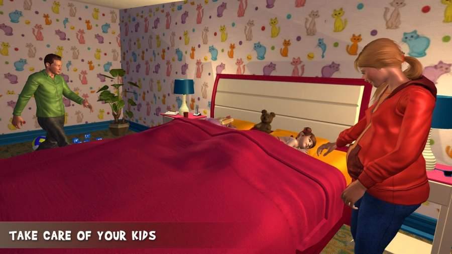 虚拟家庭怀孕的妈妈:幸福的家庭游戏截图1