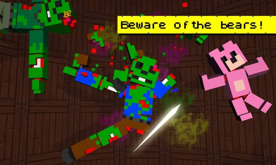 Zombie Slicer Ninja Craft截图0