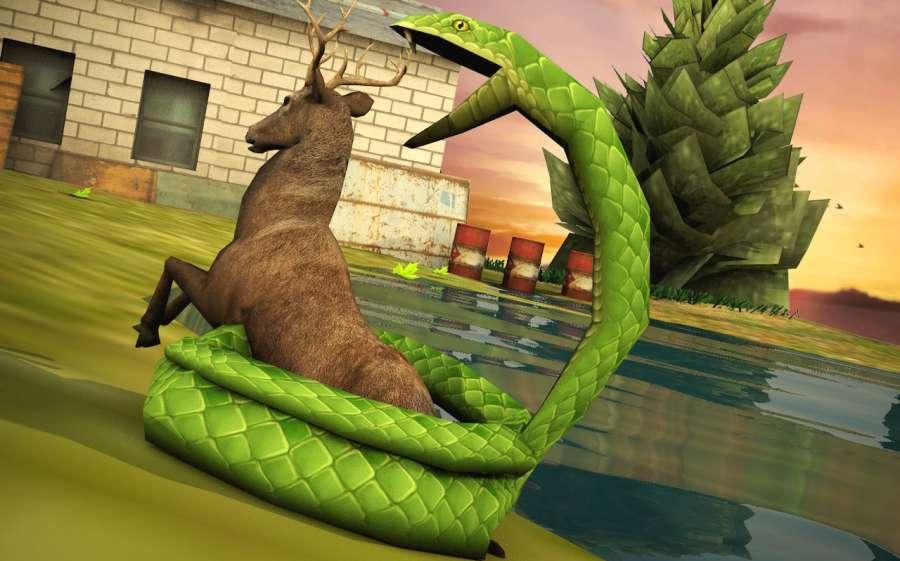 蛇模拟器2018年蟒蛇攻击:蛇追逐截图1