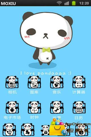 呆熊猫桌面主题—魔秀