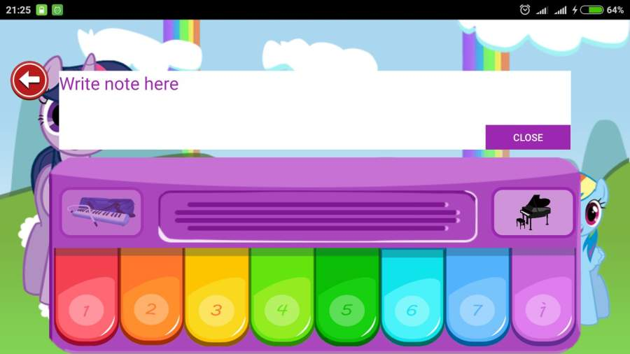 Little Pony Piano - Rainbow Dash截图0