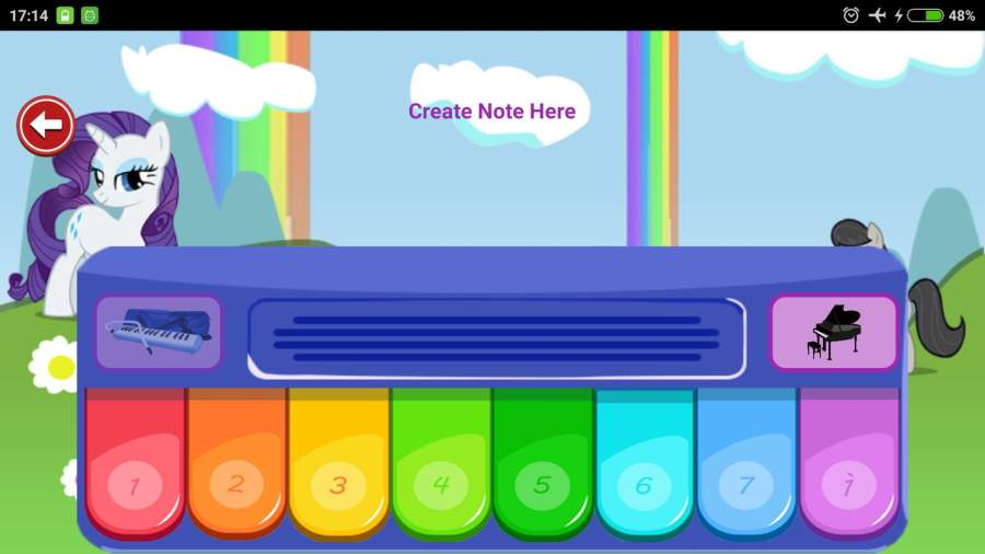 Little Pony Piano - Rainbow Dash截图2