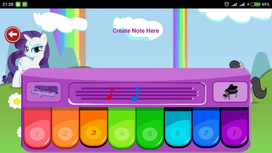 Little Pony Piano - Rainbow Dash截图3