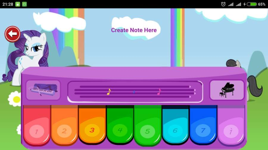 Little Pony Piano - Rainbow Dash截图5