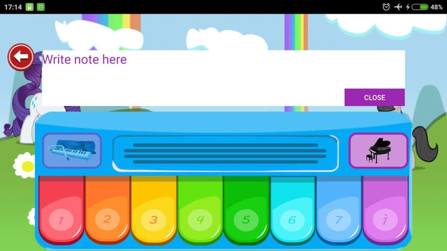 Little Pony Piano - Rainbow Dash截图6