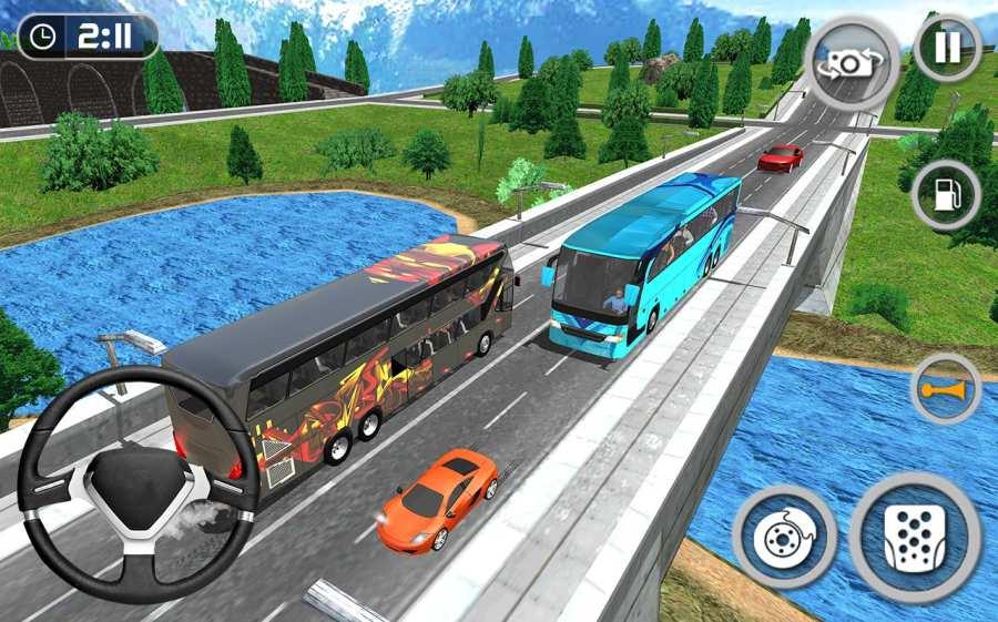 教练巴士模拟器2018年 - 移动巴士驾驶