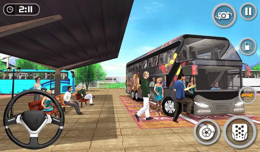 教练巴士模拟器2018年 - 移动巴士驾驶截图3