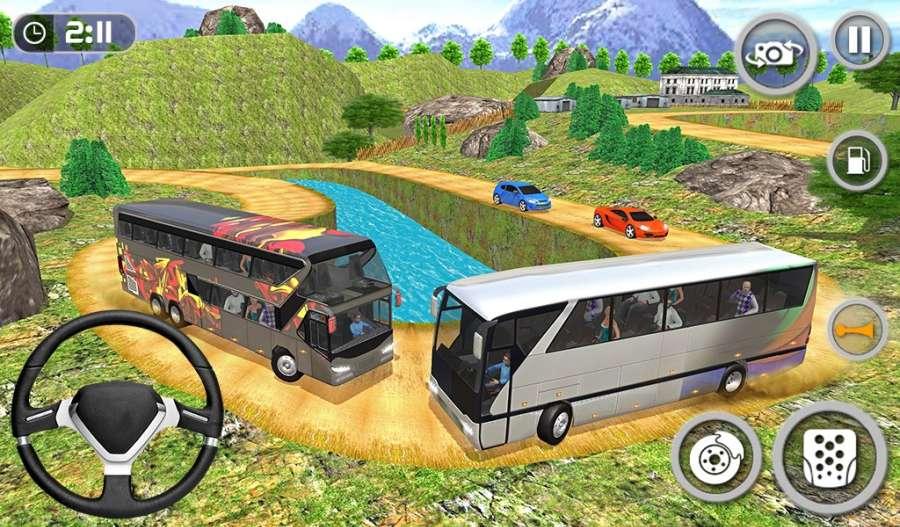 教练巴士模拟器2018年 - 移动巴士驾驶截图4