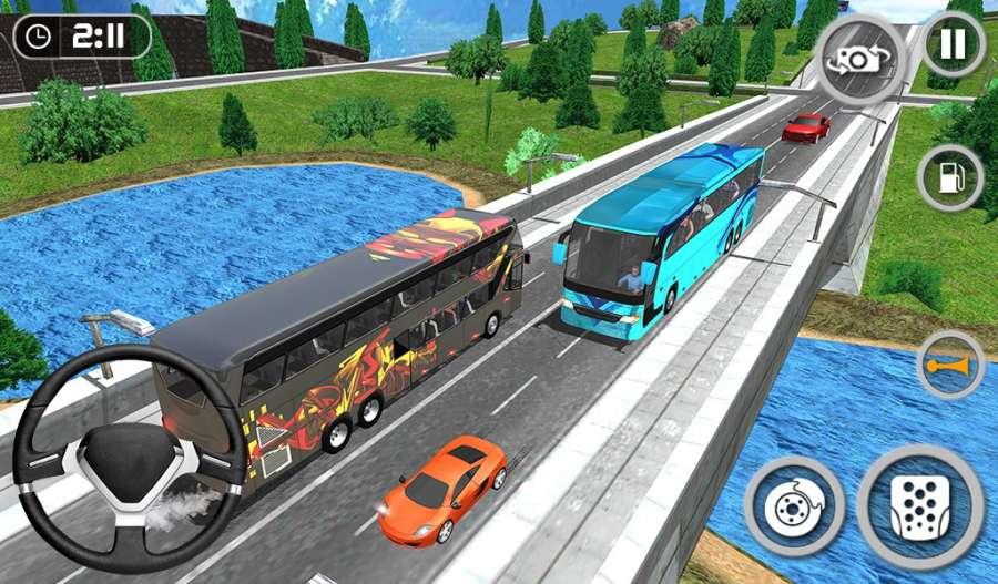 教练巴士模拟器2018年 - 移动巴士驾驶截图5