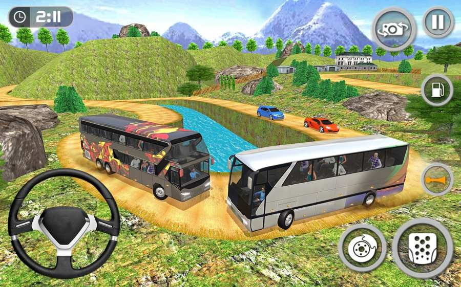 教练巴士模拟器2018年 - 移动巴士驾驶截图9