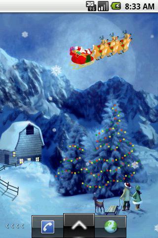 飘雪花圣诞节主题动态壁纸截图0