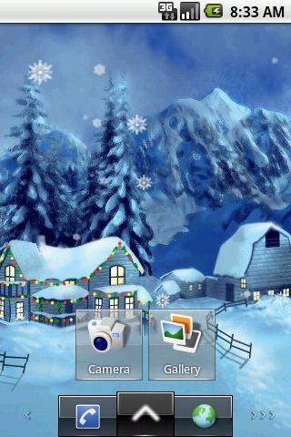 飘雪花圣诞节主题动态壁纸截图1