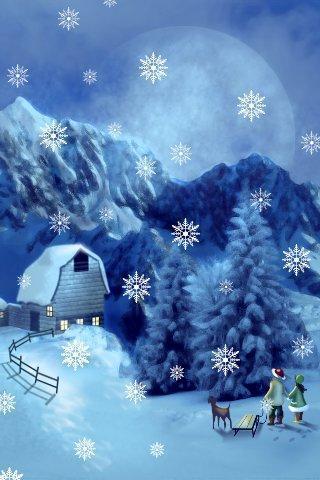 飘雪花圣诞节主题动态壁纸截图3