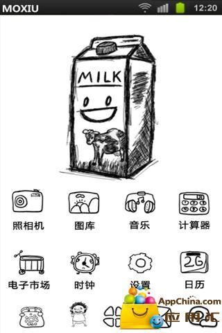 玩免費工具APP|下載牛奶桌面主题—魔秀 app不用錢|硬是要APP