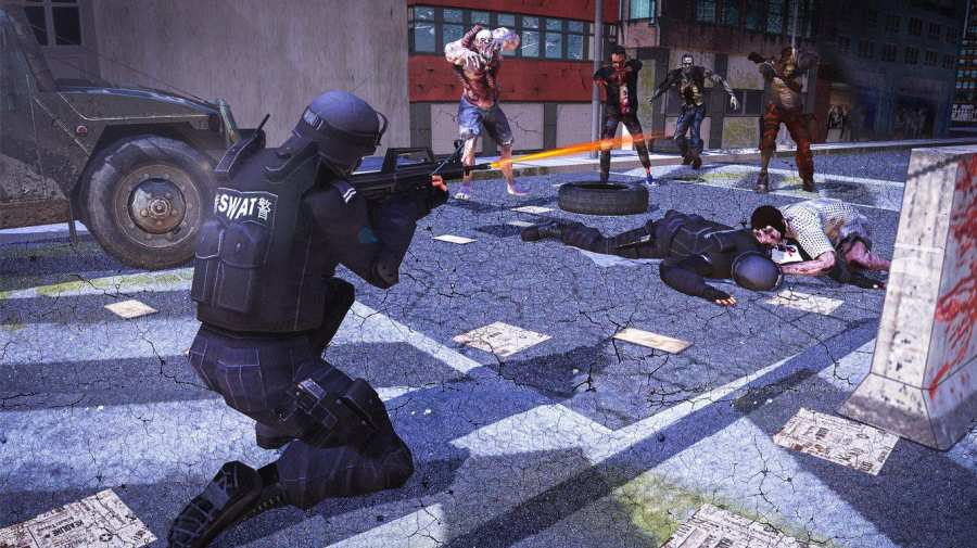 城市生存射手 - 僵尸防御截图1