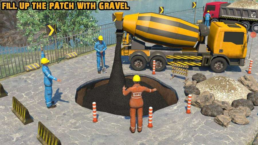 真正的道路建设18 - 重型挖掘机模拟器截图1