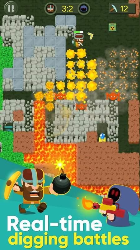 Dig Bombers : PvP multiplayer digging fight截图0