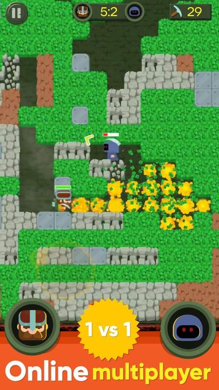Dig Bombers : PvP multiplayer digging fight截图1