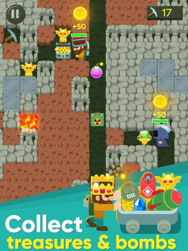 Dig Bombers : PvP multiplayer digging fight截图5