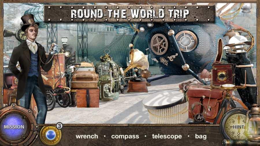 環遊世界八十天 - 隐藏的对象冒险游戏。隐藏物品截图2