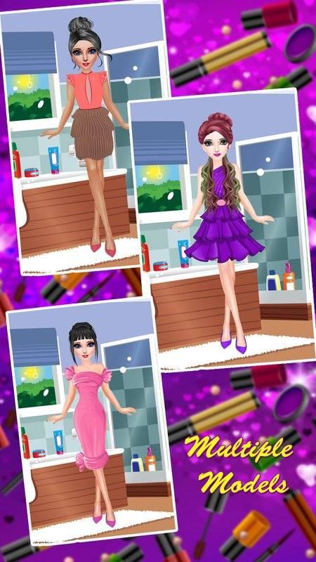 公主化妆和打扮沙龙:女孩小游戏截图0