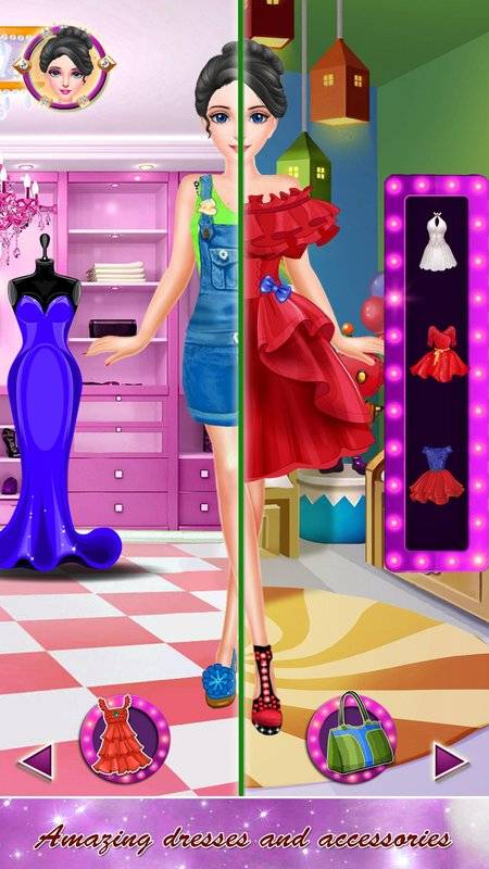 公主化妆和打扮沙龙:女孩小游戏截图1