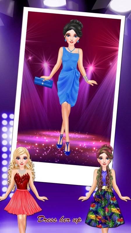 公主化妆和打扮沙龙:女孩小游戏截图2