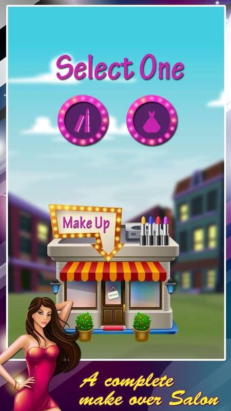 公主化妆和打扮沙龙:女孩小游戏截图3