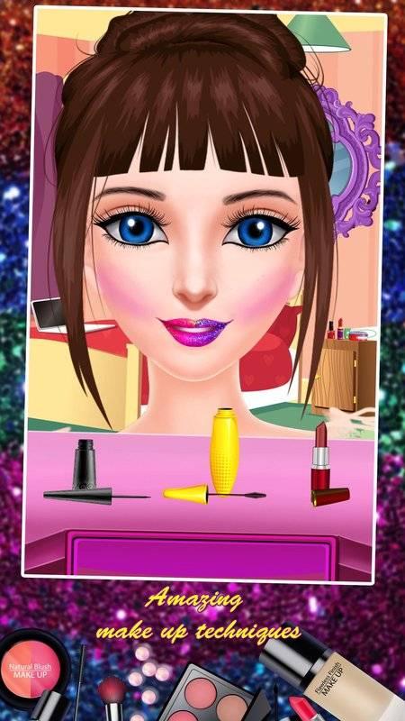 公主化妆和打扮沙龙:女孩小游戏截图4