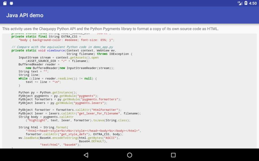 Chaquopy: Python 3 for Android截图0