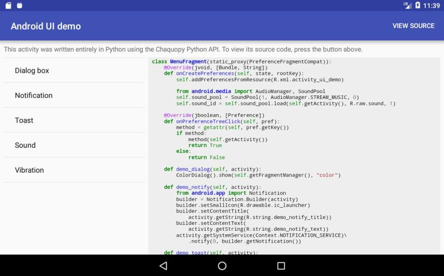 Chaquopy: Python 3 for Android截图2