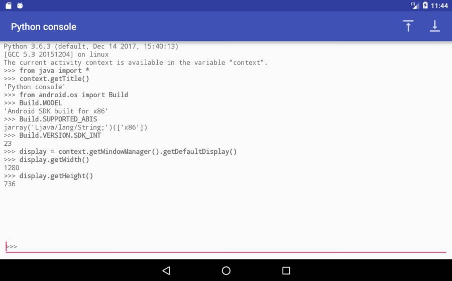 Chaquopy: Python 3 for Android截图3