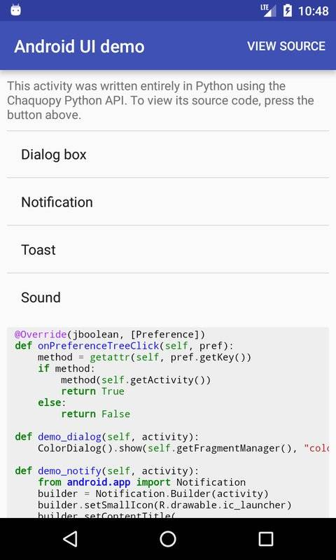 Chaquopy: Python 3 for Android截图5